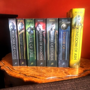 Throne of Glass six-book series by Sarah Maas